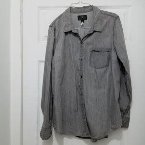 Lucky brand gray tunic shirt